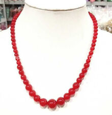 18inches 6-14mm natural Red ruby gemstone Round beads Jewelry Necklaces PN1016