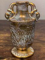 """VTG Estate Stangl 22K Gold Painted 5 ¾"""" Handled 3113 Vase Antique Gold! 52"""