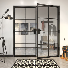 """French door - Steel Frame 48"""" x 80"""" by Crystalia Glass"""