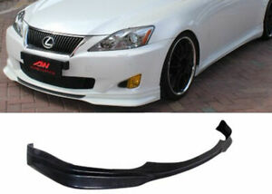 FOR 06-08 LEXUS IS250 IS350 SPORT PU BLACK POLY FRONT BUMPER LIP BODY KIT