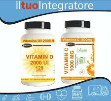 Difese Immunitarie Integratori Vitamina D3 120 CPS + Vitamina C 1000MG 90 CPR
