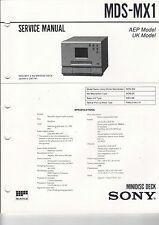 SONY Service Manual Konvolut MDS-MX1 + MDS-302 Supplement - B2107