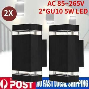 2Pcs Modern LED Wall Light Waterproof in/Outdoor Wall light Up/Down Lamp Light D