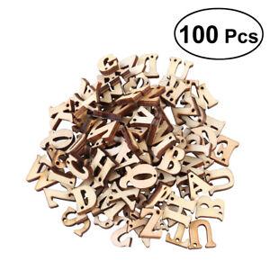 100PCS Unfinished Wooden Capital Letters Alphabet Wood Cutout Discs