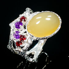 Gemstone Design Natural Opal 925 Sterling Silver Ring Size 8/R90734