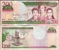 DOMINICAN REPUBLIC 200 PESOS ORO 2009 P 178 NEW COLOR UNC