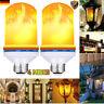 1/2/4 E27 LED Flicker Flame Light Bulb Burning Fire Effect Tube Lamp Pear Decor