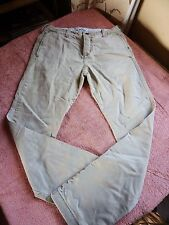 HOLLISTER CHINOS 28W 30L BEIGE COTTON BUTTON FLY GOOD CONDITION