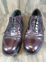 Bostonian Strada Mens Dress Shoes Sz 10 Black Cap Toe Lace Up Oxfords