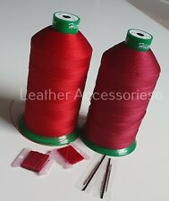 Kit Upholstery RED Thread & Needle Hand sewing nylon thread Upholstery & Craft