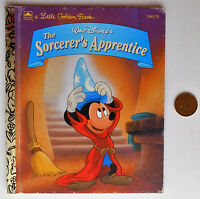 Sorcerer's Apprentice Little Golden Book story for children Walt Disney pictures