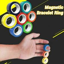 New Finger Magnetic Ring Toy Fingers Fidget Spinner Activity Stress Relief Craze
