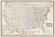 USA Classic Executive Wall Map Poster - 36