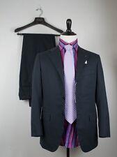 NWT Kiton Napoli Superfine Cotton Navy Blue Suit 36 (46 7R) Handmade in Italy