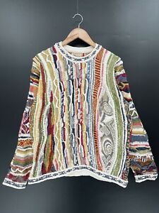 90's 3D COOGI Made in Australia Size L Vintage Knit-Sweater/ S4