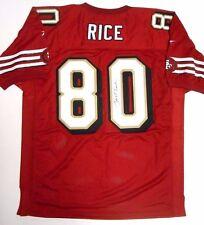 Jerry Rice Auto Signed Autographed Reebok Football Ball Jersey 49ers Raiders Hof