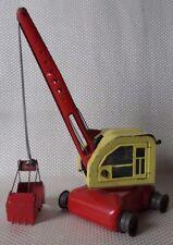 Great Vintage 1960s Linemar Pressed Steel Battery Operated Toy Crane