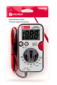 Digital Battery Tester With Banana Plug Connectors Test Leads DT-203B 163435