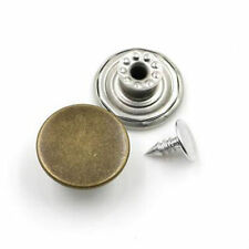 10 Blank NO SEW Replacement Metal Button 20mm For Jeans/Denim-shirts/Pants