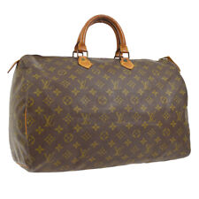 LOUIS VUITTON SPEEDY 40 HAND BAG MONOGRAM CANVAS LEATHER M41522 A44010e