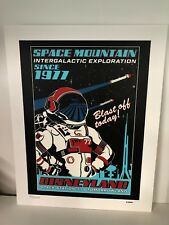 D23 Disney 11x14 Serigraph Print Space Mountain Aniv Limited Edition #90/100 NEW