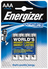 4 x Energizer Lithium Batterie AAA Micro LR03 FR03 MP3 Photo 1,5 V L92