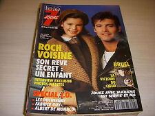 TELE 7 JOURS 1655 02.1992 Roch VOISINE Patrick BRUEL BIRKIN Albert de MONACO