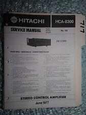 Hitachi hca-8300 service manual original repair book stereo amp amplifier