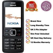 NEUF NOKIA Brand 6300 (Noir) Débloqué Caméra Bluetooth Téléphone Portable