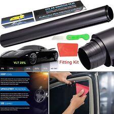 Black Car Van Limo Window Tint Film Reduce Sun Glare Universal Fit 3m x 50cm Kit