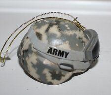 Kurt Adler US Army Camouflage Combat Helmet Ornament NEW