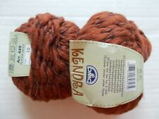 DMC Kendra wool blend textured  yarn, warm brown, lot of 2 (45 yds each)