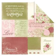 """12X12"""" Scrapbook Paper English Rose Collection Charlotte Double Sided"""