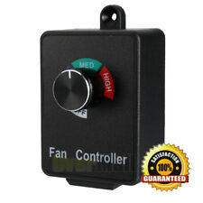 Variable Speed Air Duct Booster Fan Speed Controller Hydroponics Inline Exhaust
