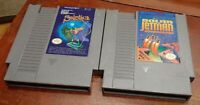 Nintendo NES Solstice & Solar Jetman loose carts, cleaned & tested, authentic