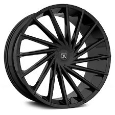 "24"" Asanti Black Label ABL-18 Gloss Black 24x9 Wheel SET 24INCH RIMS Vehicles"