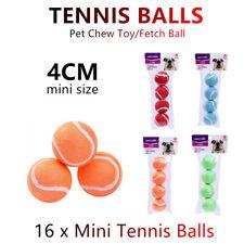 16x Mini Pet Chew Toy Fetch Tennis Play Balls 4cm Sports Dog Puppy Throw Small