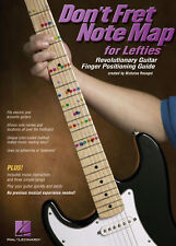 Don't Fret Note Map for Lefties Lefthanded Guitar Learn to Play MUSIC BOOK