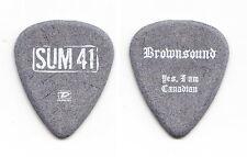 "Sum 41 Dave ""Brownsound"" Baksh Gray Guitar Pick - 2005 Tour"