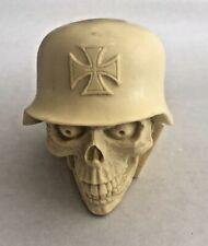 Jimmy Flintstone German Helmet Skull head shifter knob.  ready to finish