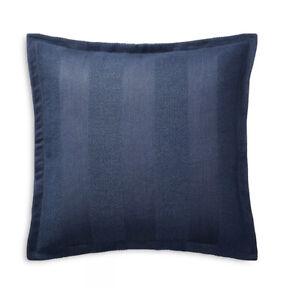 Ralph Lauren Eva Woven Stripe Euro Sham Dark Blue $170 BNWT