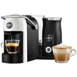 Lavazza Modo Mio Jolie Plus 0.6L Coffee Machine & Milk Frother (White/Black) B+