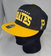 Pittsburgh Pirates 47 Brand Snapback Canvas Hat Cap MLB two logos