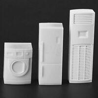 Set White Washing Machine Air Conditioning Refrigerator Model Furniture Decor