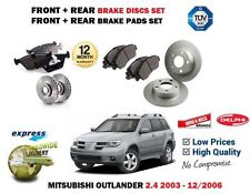 FOR MITSUBISHI OUTLANDER 2.4 MiVEC 2003-2006 FRONT + REAR BRAKE DISCS + PADS KIT