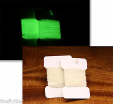 AFTERGLOW - 2 Packs of Medium Chenille- White Glow in the Dark Green Fly Tying
