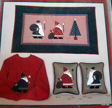 Country Applique Christmas mini quilt wallhanging pattern 20x33 & 9x11 Santa