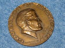 1965 George Romney Governor Of Michigan Inauguration Bronze Medallion B7066