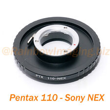 Pentax 110 Lens to Sony  NEX-5N NEX-5R NEX-6 NEX-7 NEX-F3 NEX-3C NEX-5 Adapter