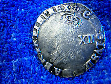 ENGLAND: SCARCE HAND HAMMERED SILVER SHILLING CHARLES I 1635-36 FINE  PLUS!